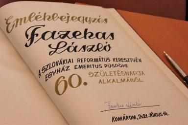 Fazekas László emeritus püspököt köszöntötték